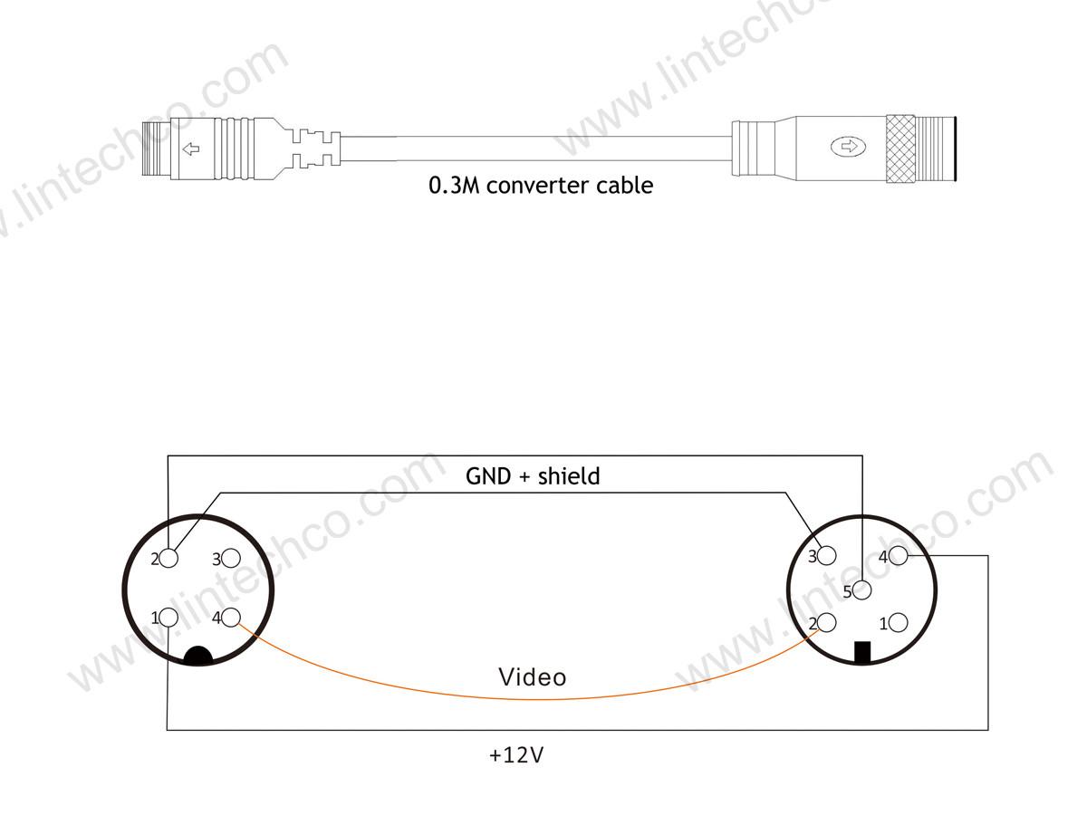 440 Pin to 440 Pin Connector Convert Cable 40.40 meter   LintechCo