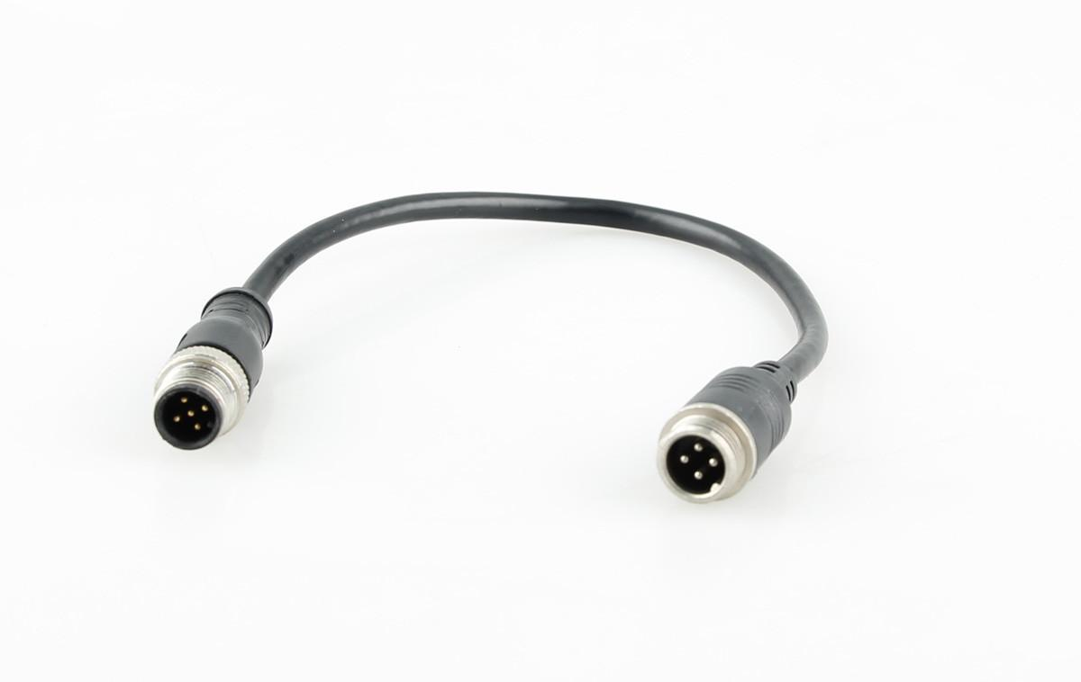 M12 5-pin 12V Water-resistant Coaxial Connector/Plug Assembly with Brass Ring