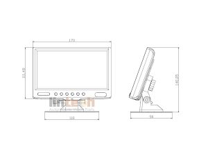 LM-070A-4 7 inches Monitor For Bus Reverse