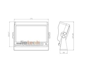 7 inches TFT LCD Monitor