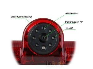 Brake Lights Rearview Camera For Fiat Ducato, LC-009C5
