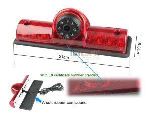 Universal Cargo Van Third Brake Light Backup Camera, LC-009C5-1