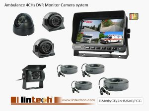 7 inch 4CHs Recorder Cameras System For Ambulance