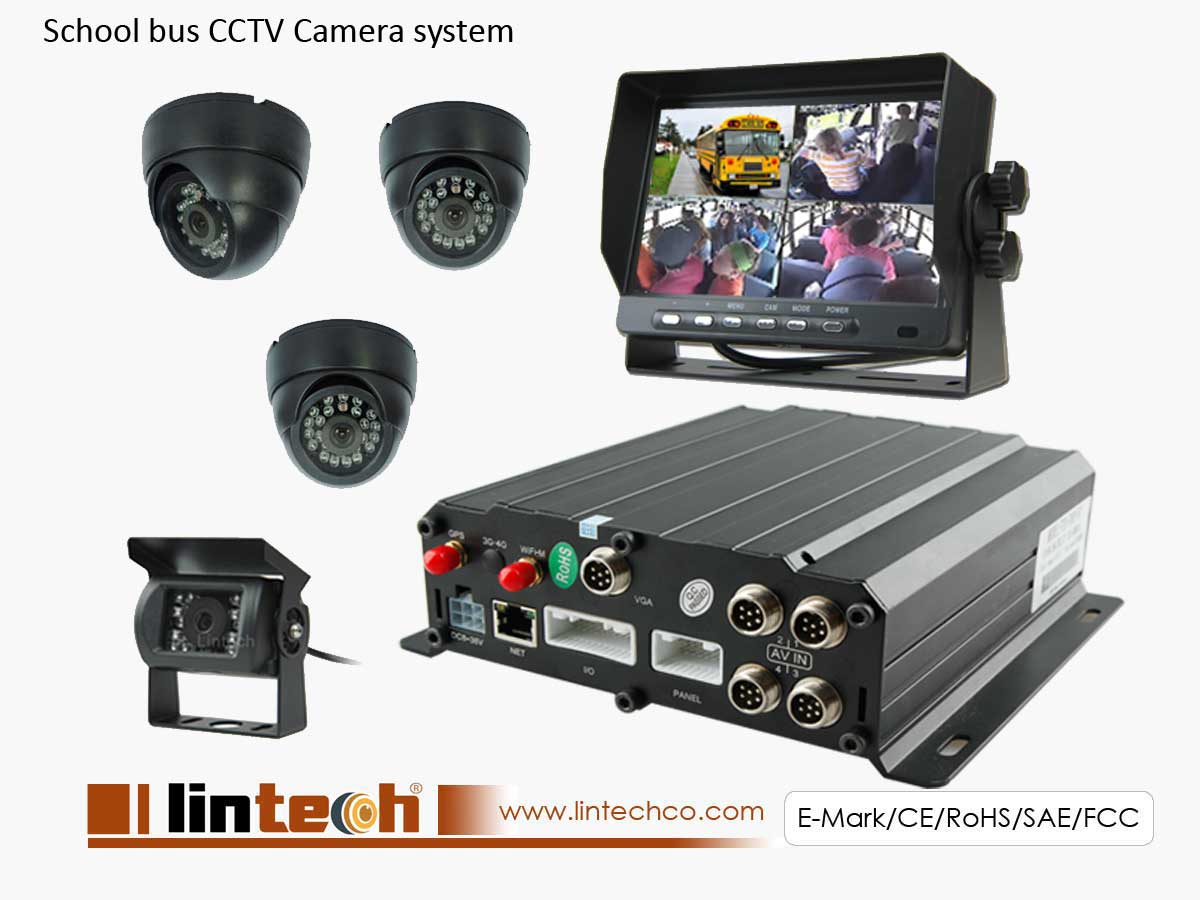 CCTV Camera System Kit for School Bus