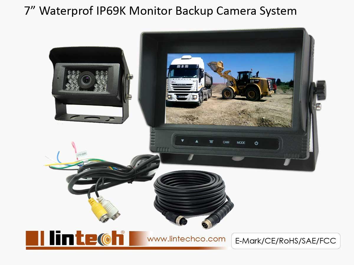 Waterproof Dustproof Monitor Backup Camera System