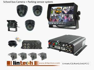 4CHs MDVR CCTV Security Camera System for School Bus with Parking Sensors