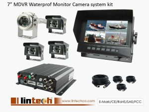 7 inch Waterproof Ships MDVR CCTV Camera System Kit
