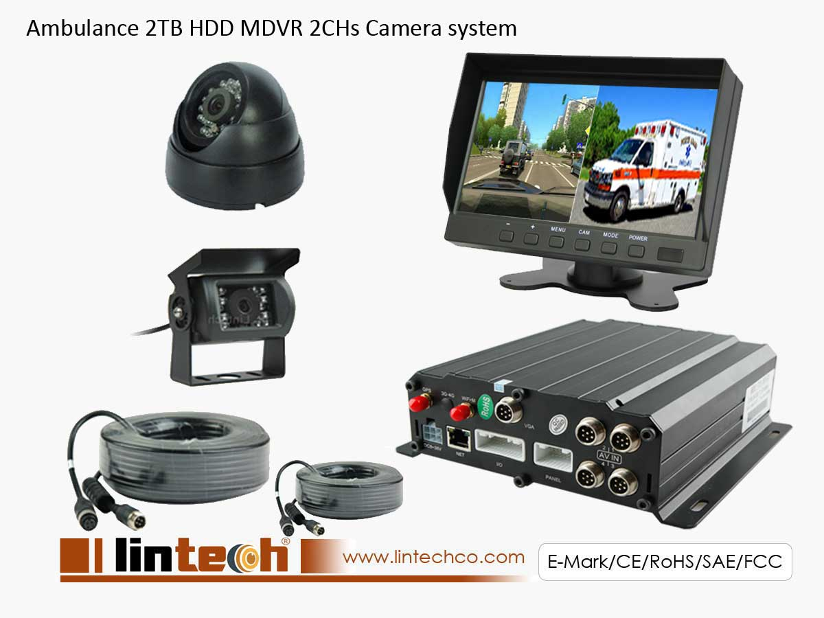 2Chs Front And Rear Recorder For Ambulance