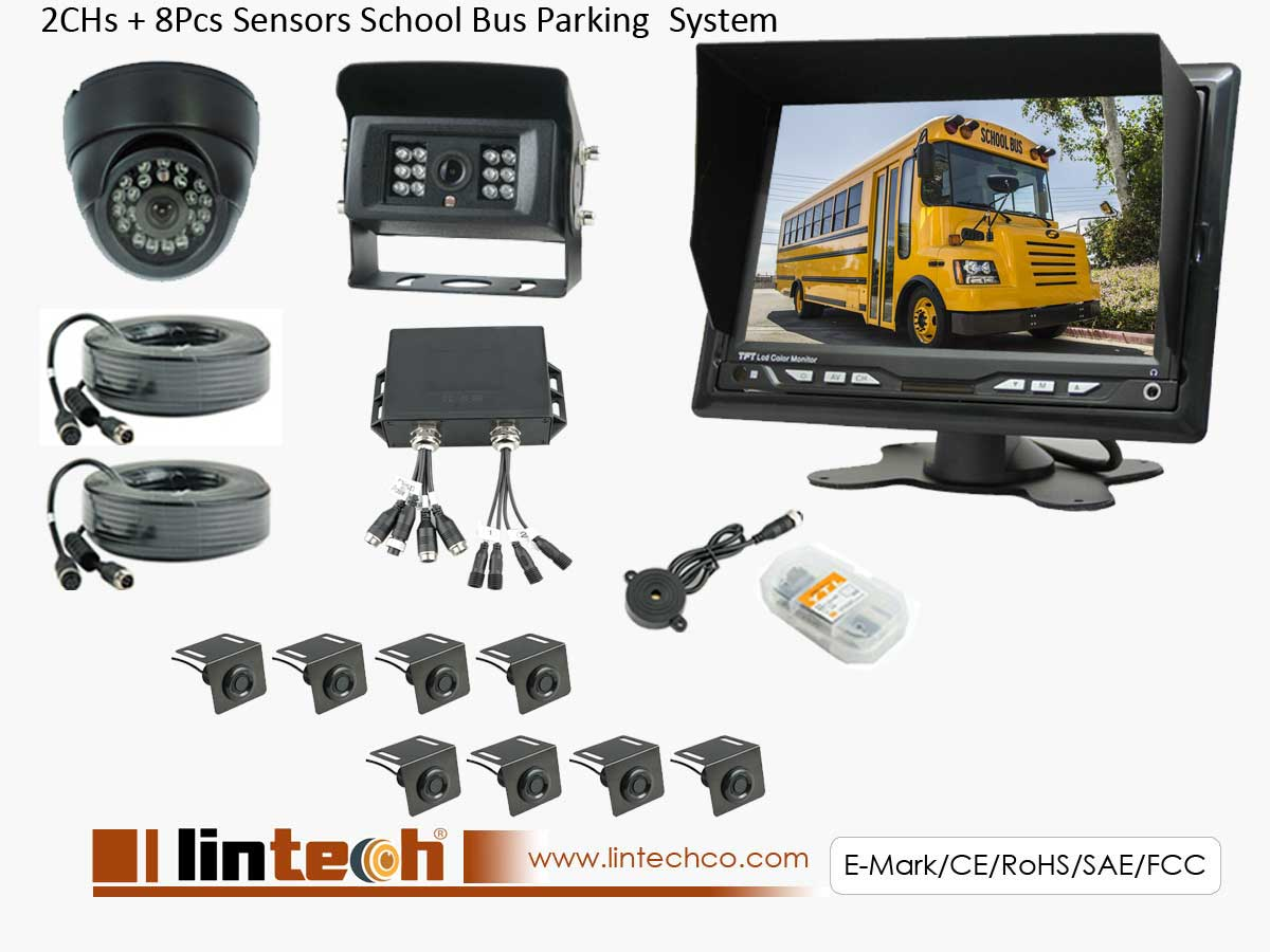 8 sensors vision camera system for School bus