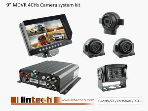 4Chs DVR Camera System With 9 Inch Wide Screen