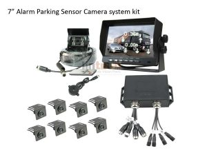 7 inches Monitor Front and Rear Parking Sensors Camera System, T-R8-B