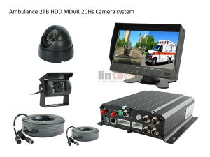 2CHs Front And Rear Vehicle DVR Camera System for Ambulance, LRW-04