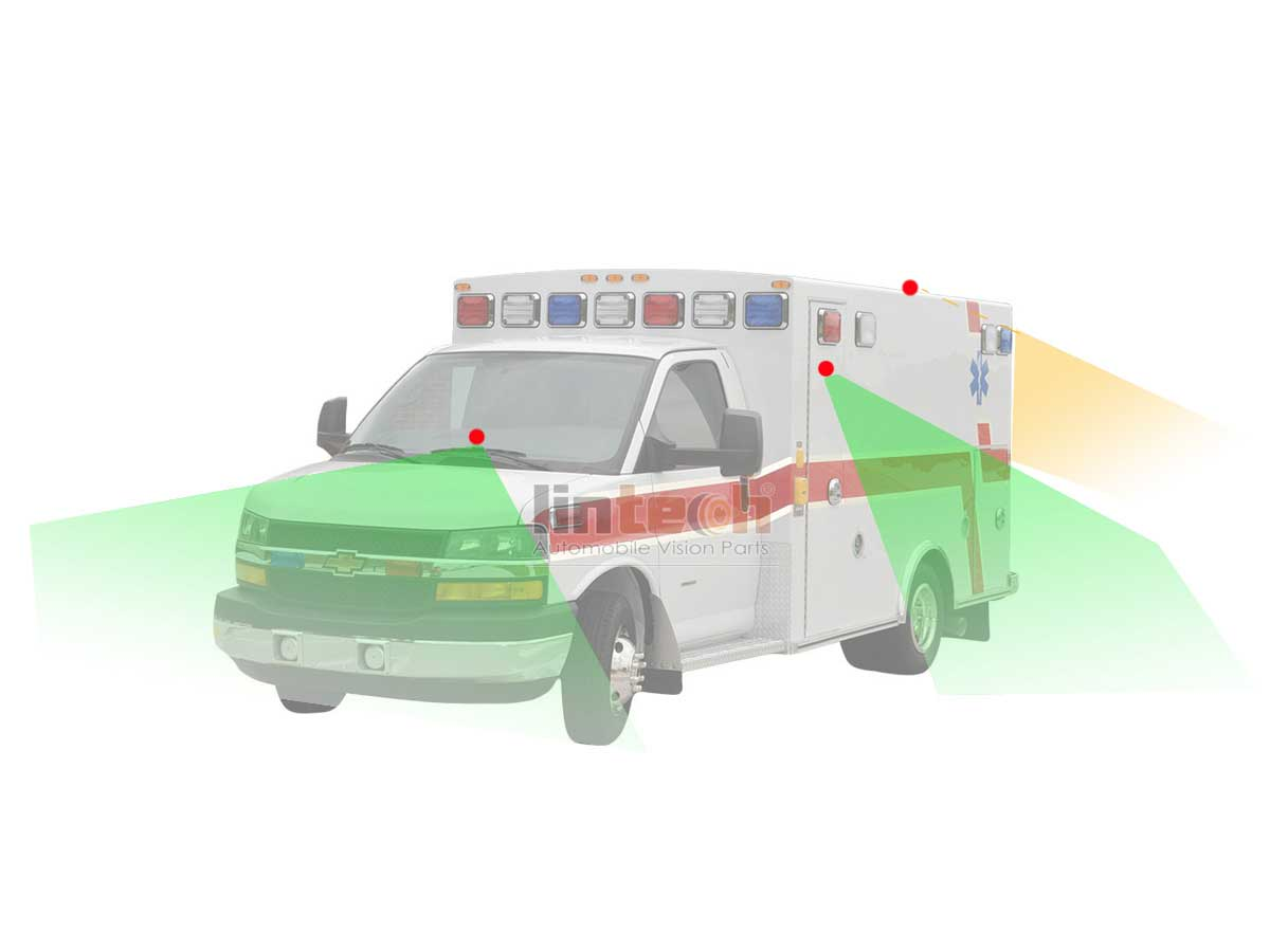 360° SURROUND VIEW 4 DVR Recording camera SYSTEM for Ambulance