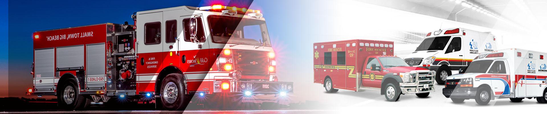 Fire trucks Ambulance camera system kit banner