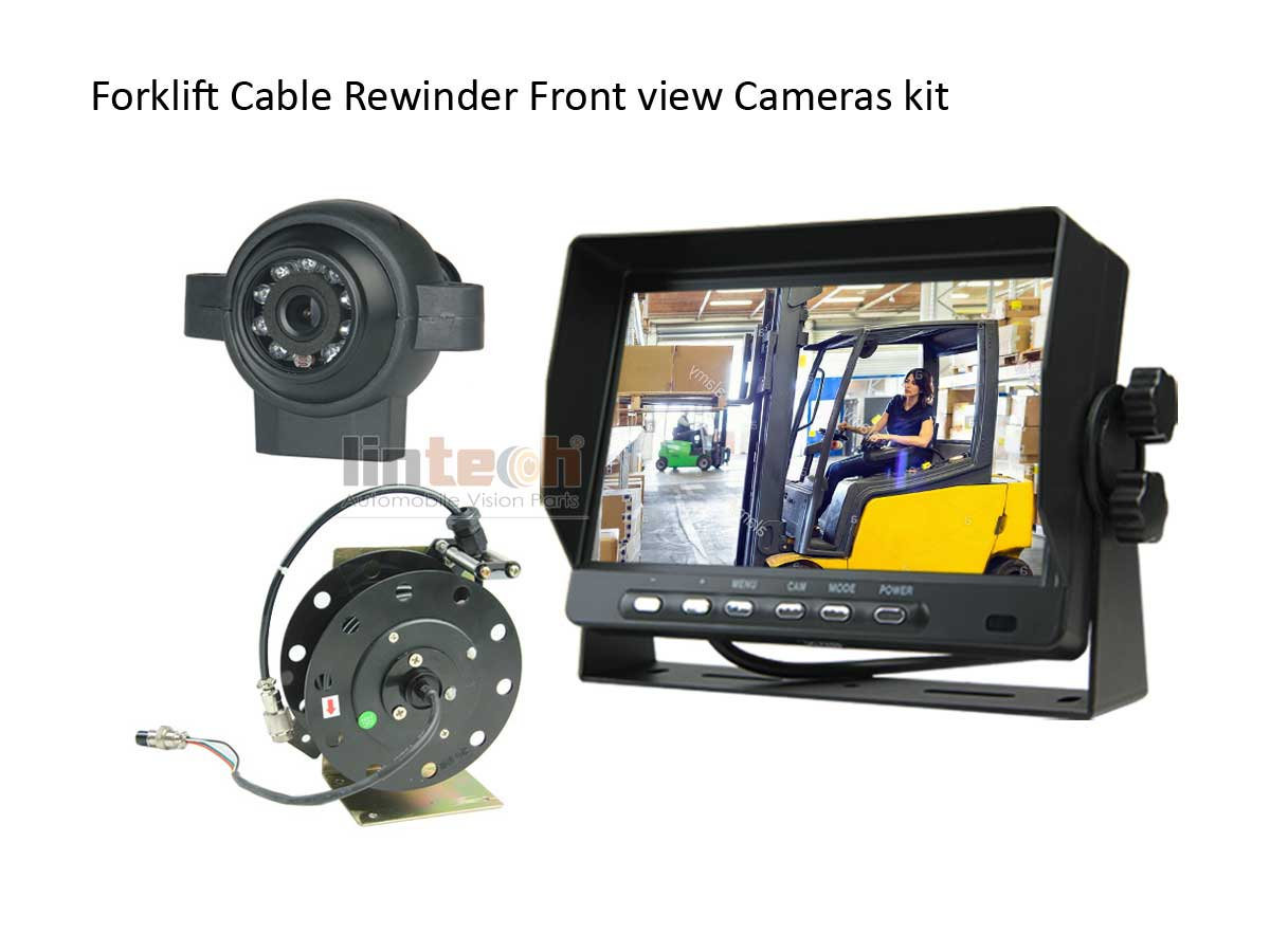 7 Quot Monitor Front View Camera Cable Rewinder Kit System