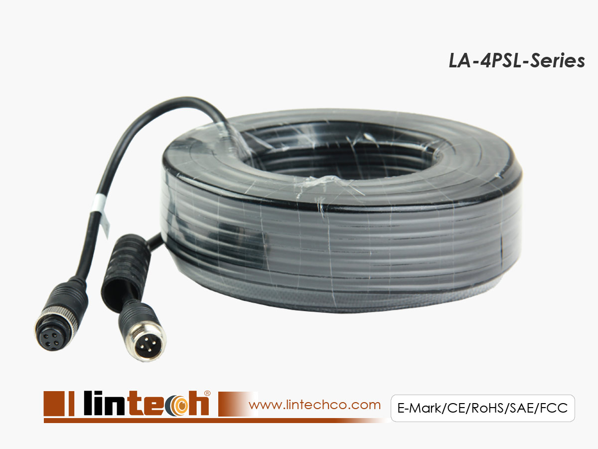 LA-4PSL 4 pins screw on locking aviation extension cable