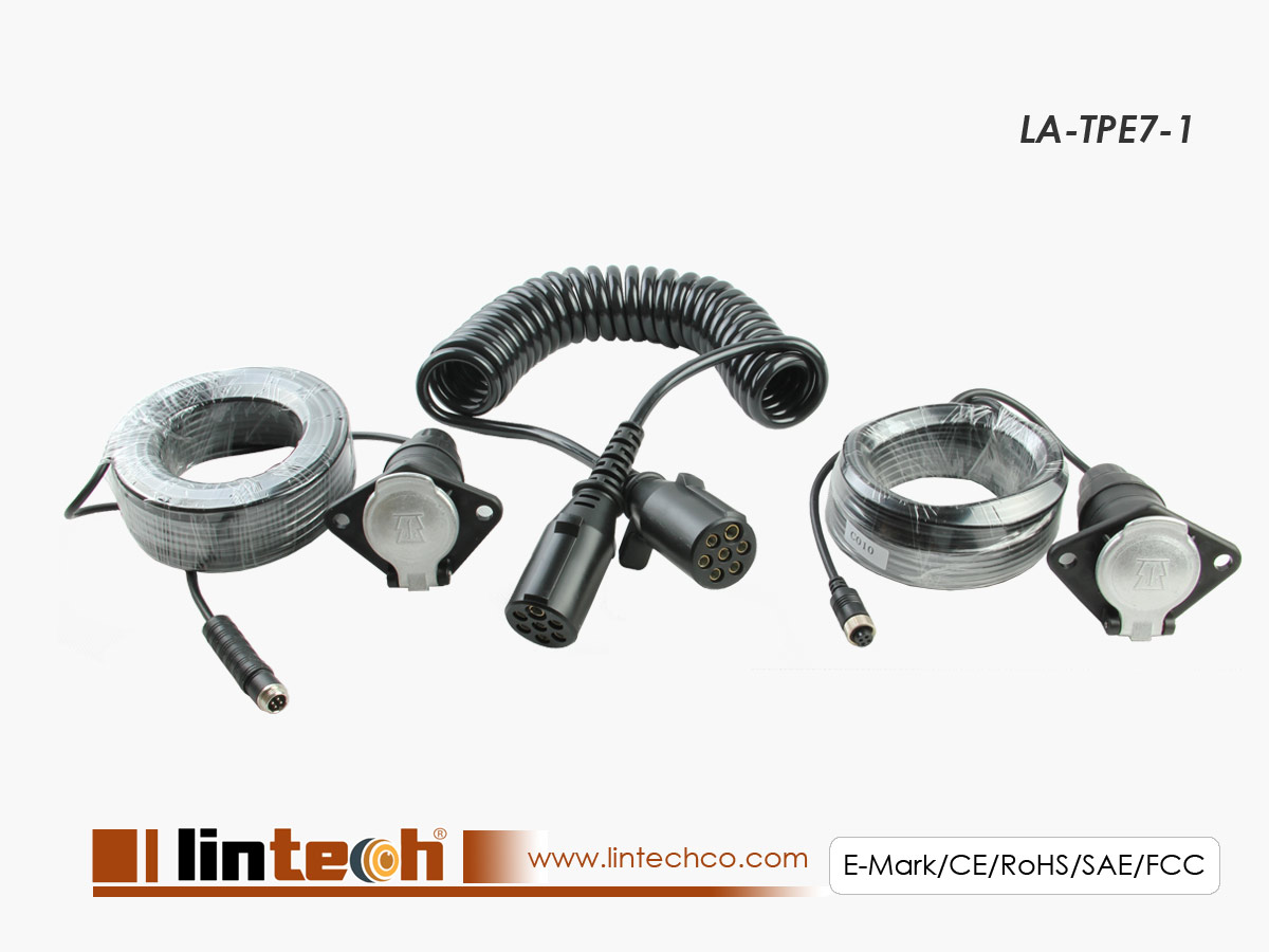 LA-TPE7-1 Trailer Cable for 1 Channel Car Camera Connector