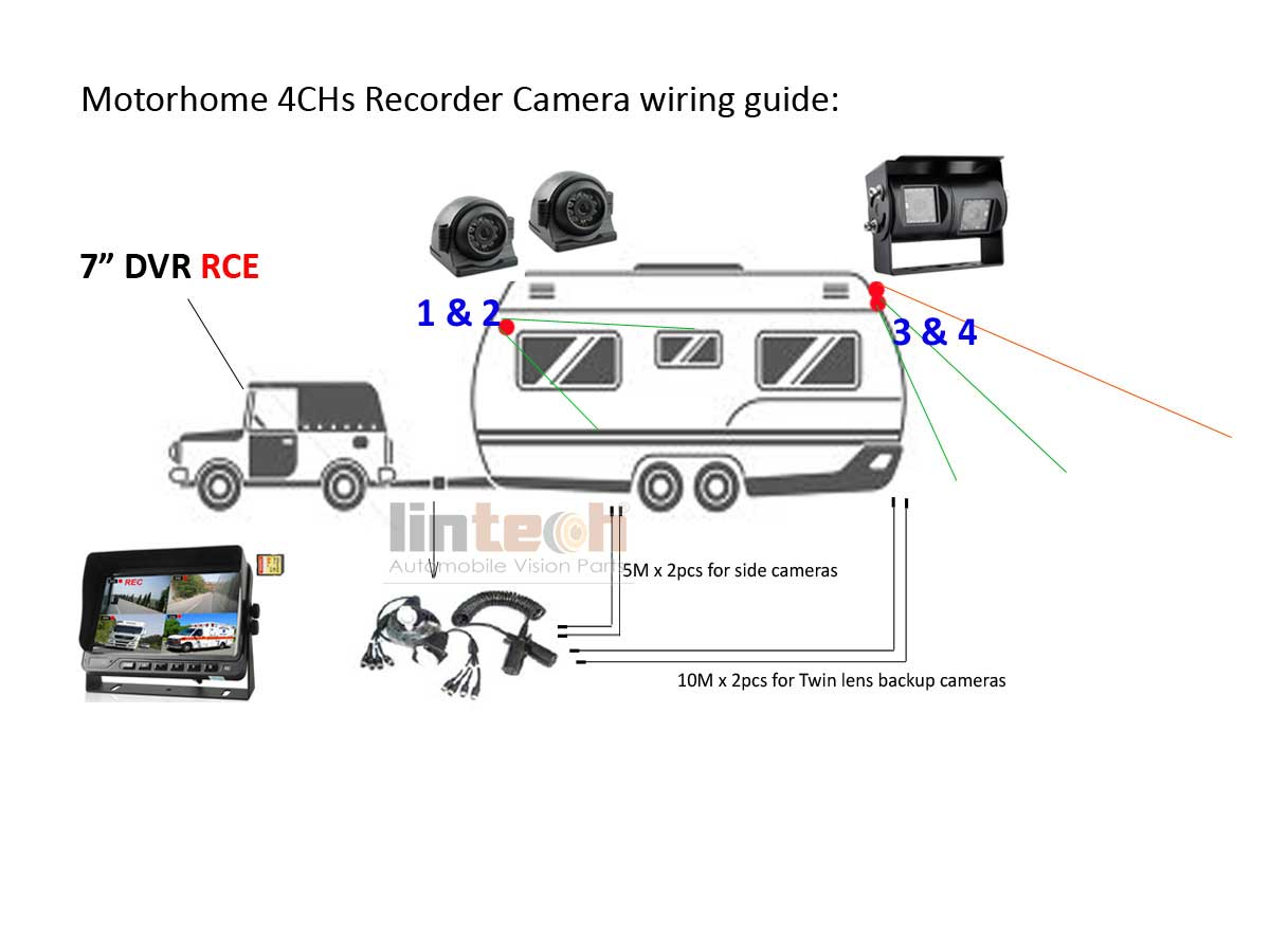 night vision camera wiring diagram