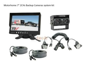 RV Camera System with Dual Lens Camera for Backup and Rear View, LRV-04
