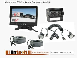 Backup Camera System with Dual Lens Camera