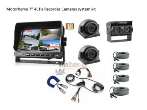 7 Inch Monitor DVR Surveillance System with Trailer Cable, LRV-05