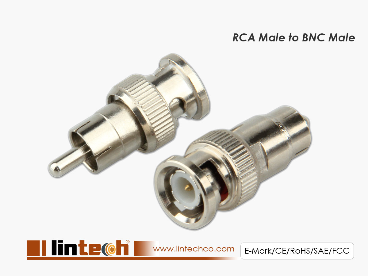 RCA Male to BNC Male Conversion Connector