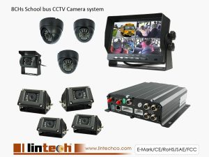 School bus CCTV Camera system 8CHs DVR