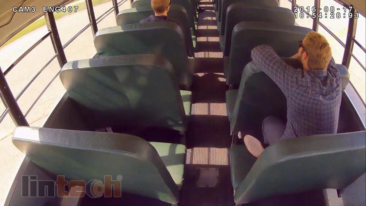 School bus internal front door view camera 2