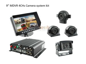 4 Channel Car DVR with 9 Inch Wide Screen, LWT-03