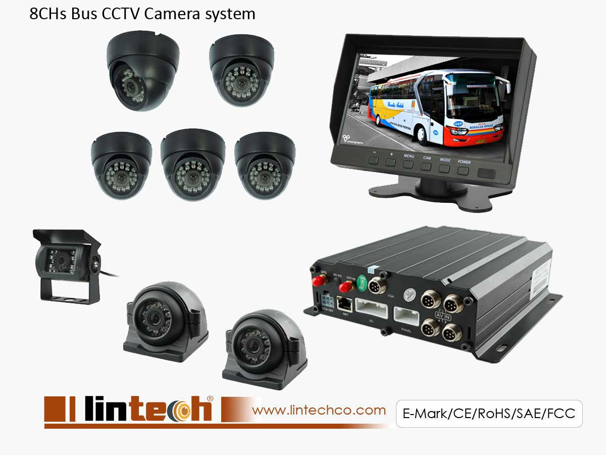 8 Channel DVR System for City Bus