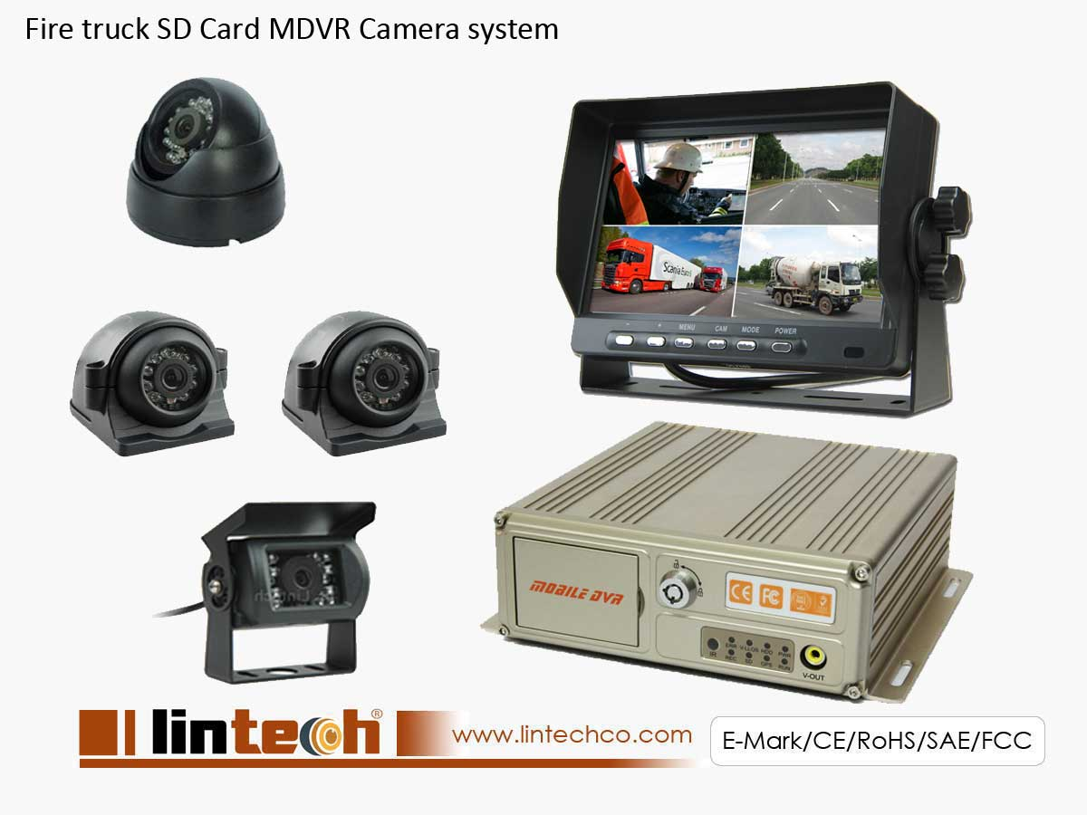 Fire Truck Vehicle Blackbox DVR Camera System