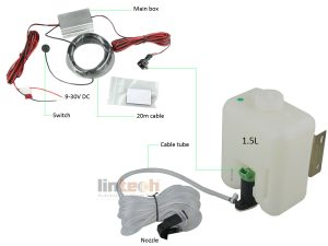 LAM-03 Water Jet Cleaner For Backup Camera