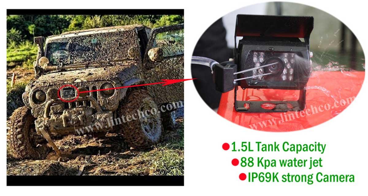 Garbage Trucks Ip69k Waterproof Camera With Water Jet