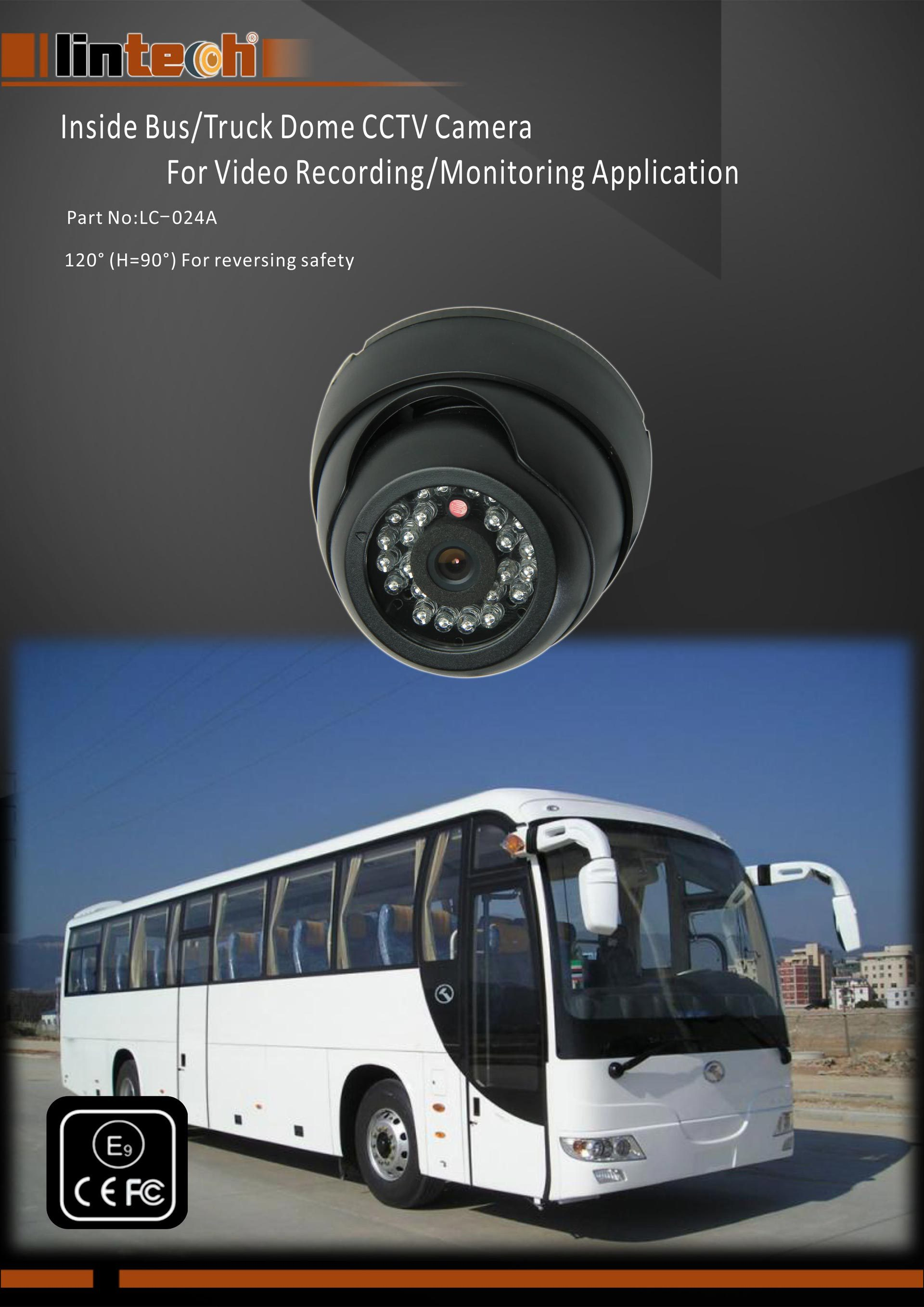 1. Inside Bus Truck Dome CCTV Camera For Video Recording Monitoring Application