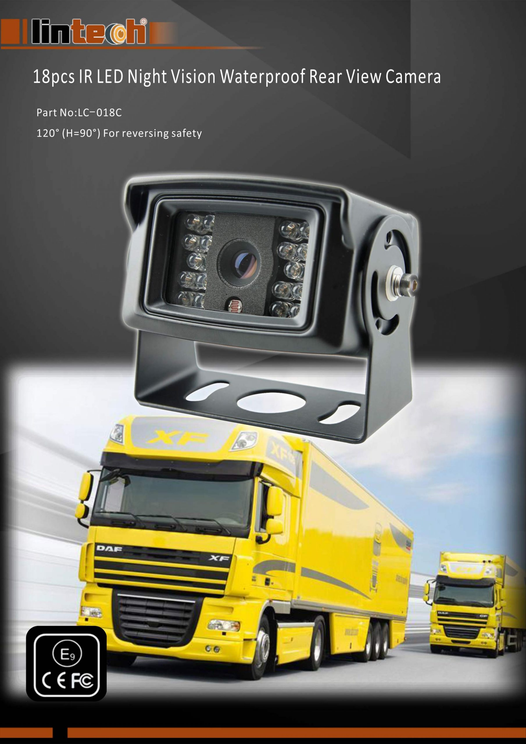 1.18pcs-IR-LED-Night-Vision-Waterproof-Rear-View-Camera