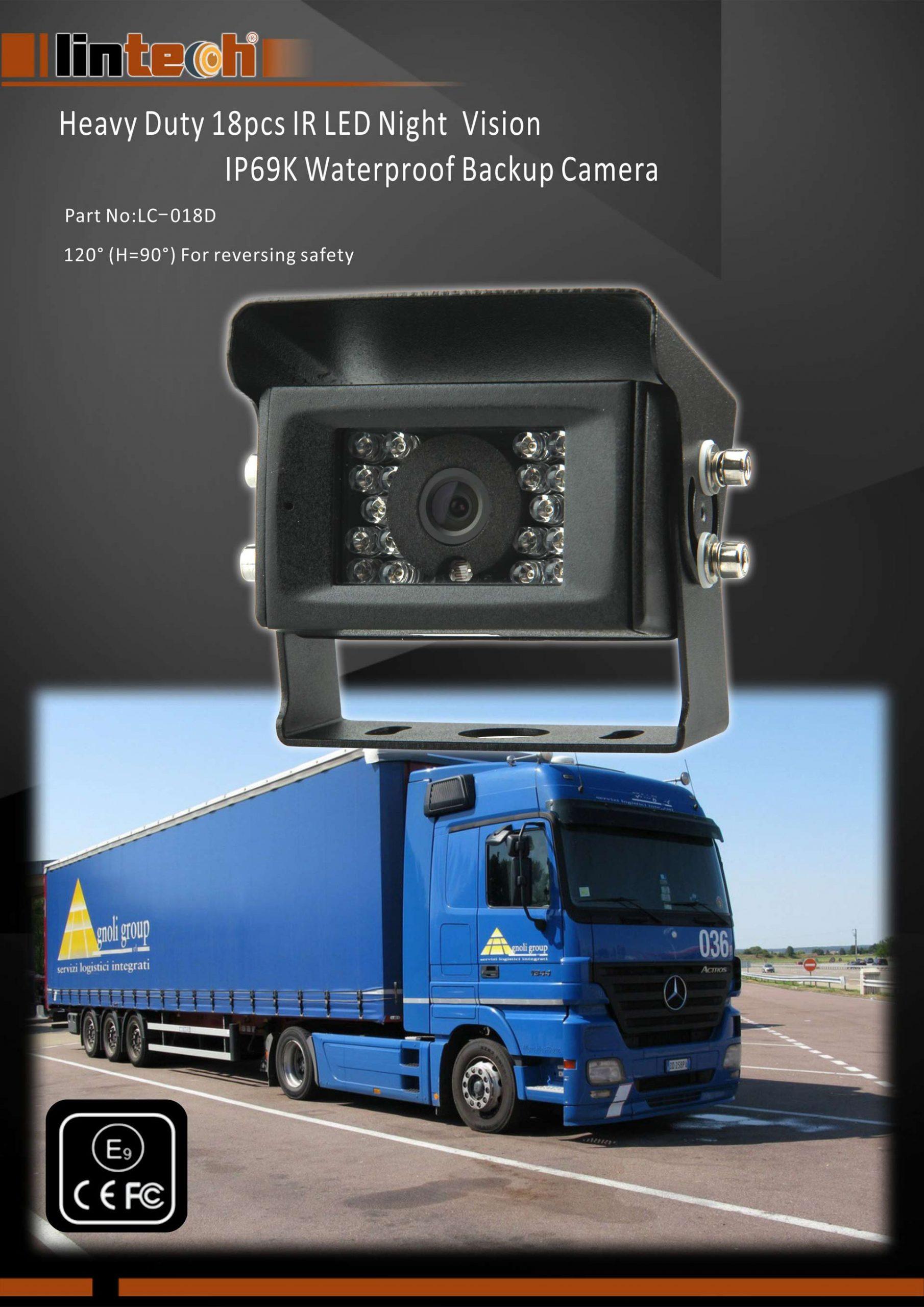 1.Heavy-Duty-18pcs-IR-LED-Night-Vision-IP69K-Waterproof-Backup-Camera
