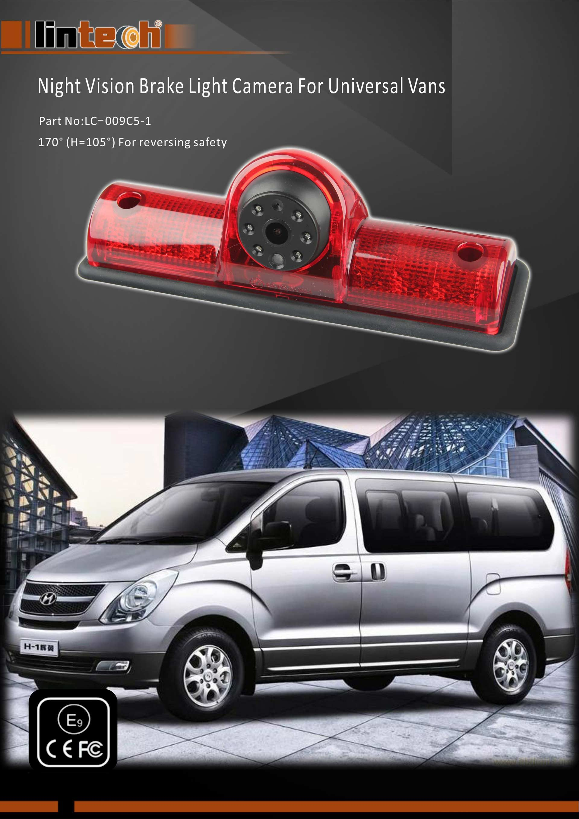 1.Night Vision Brake Light Camera for Universal Vans