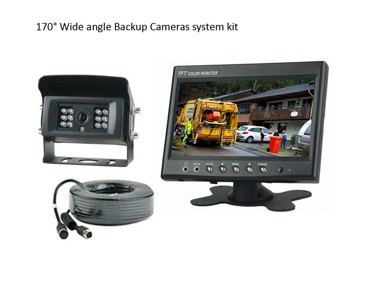170degree wide view angle Rear view Cameras system kit