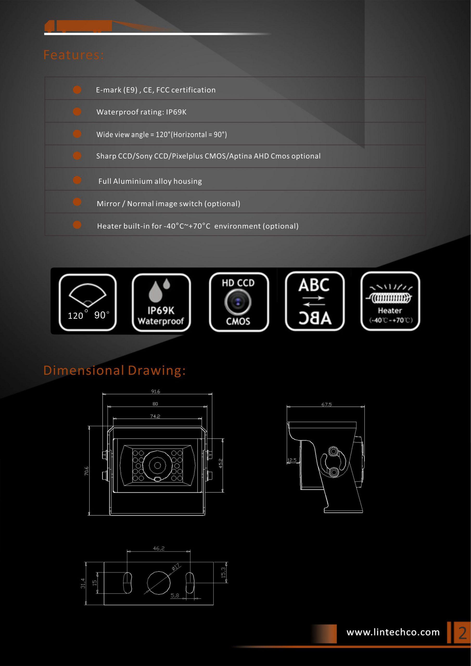 2.Heavy-Duty-18pcs-IR-LED-Night-Vision-IP69K-Waterproof-Backup-Camera