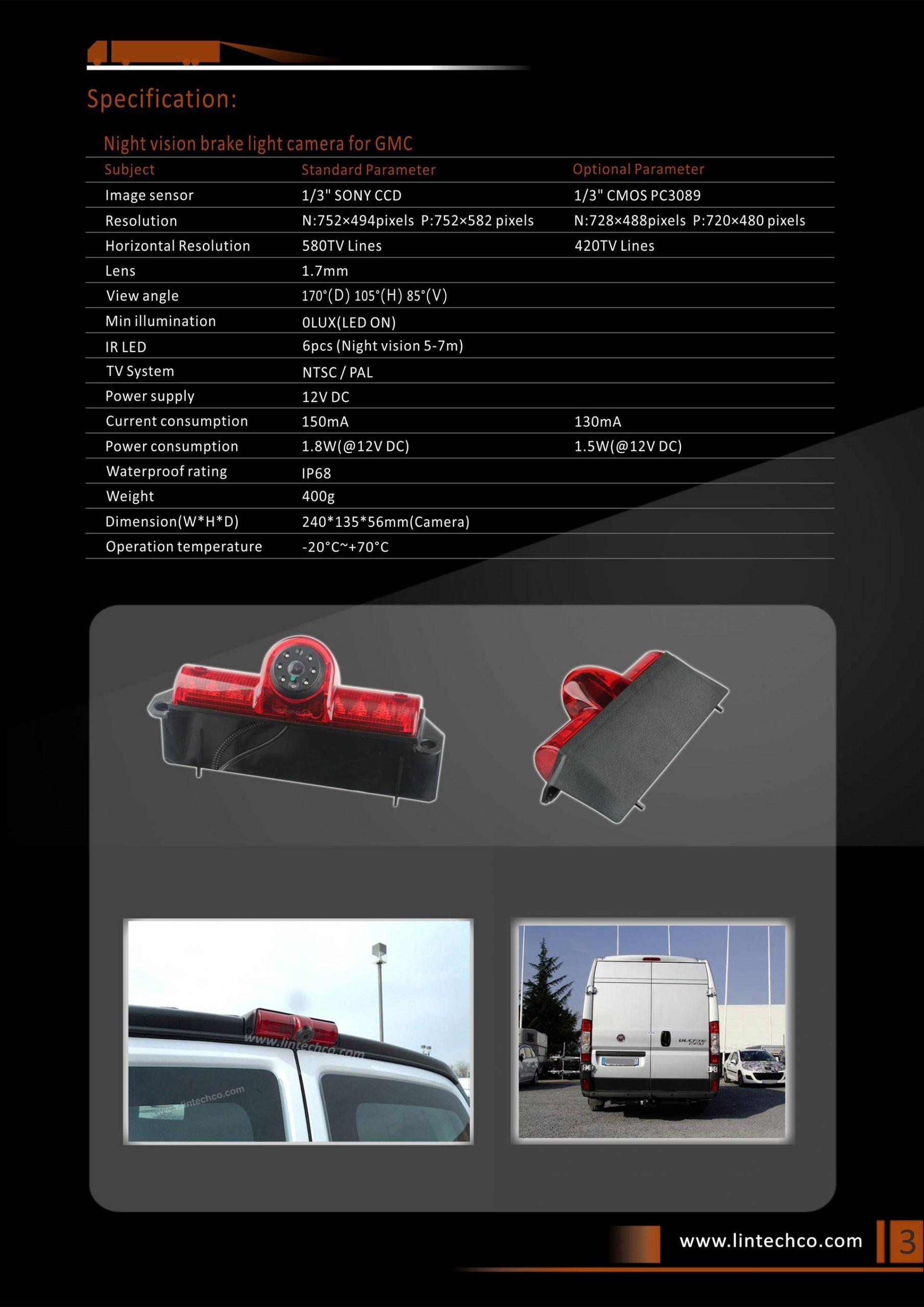 3. Brake Light Camera for GMC