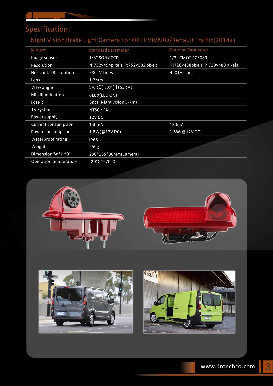 3. Opel Vivaro Reversing Camera