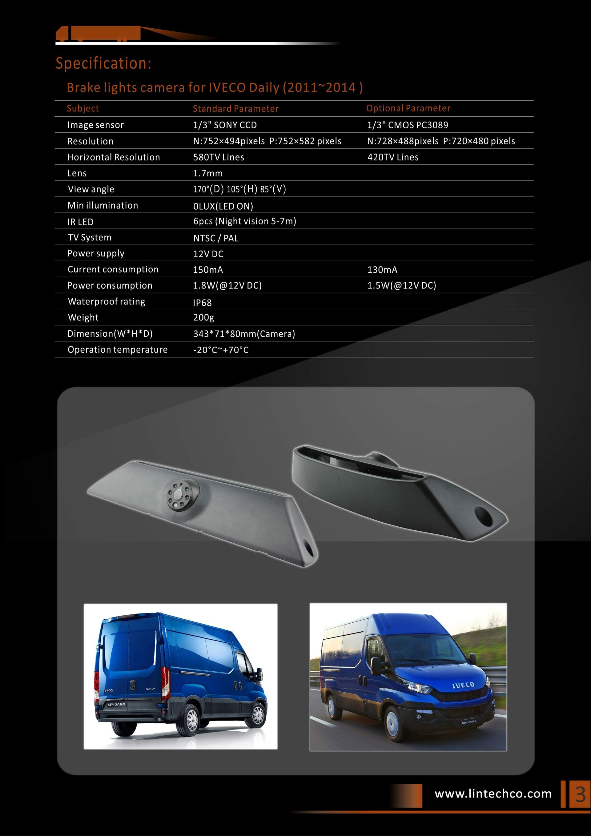 3.Brake Lights Camera For IVECO Daily