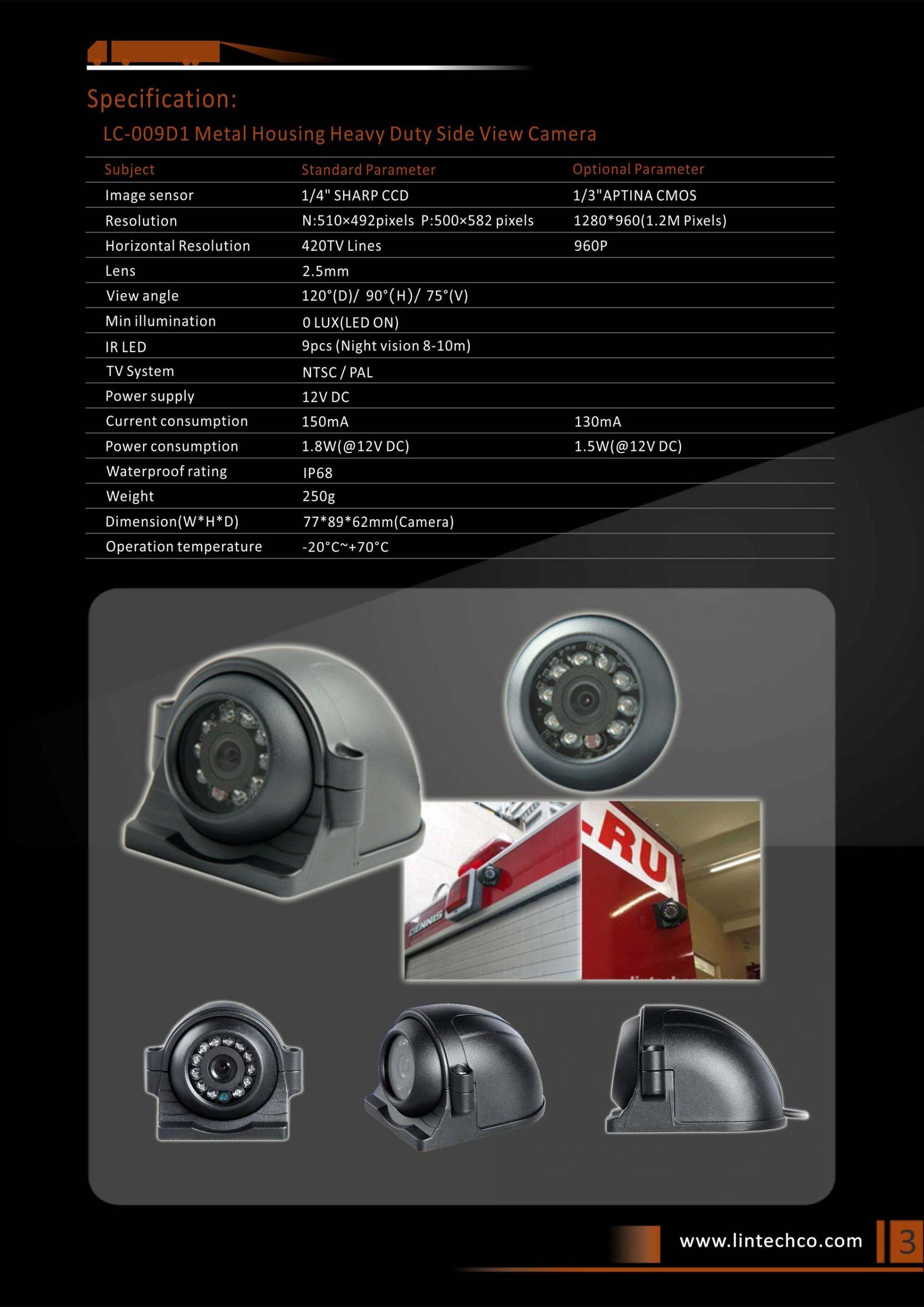 3.Metal Housing Heavy Duty Side View Camera