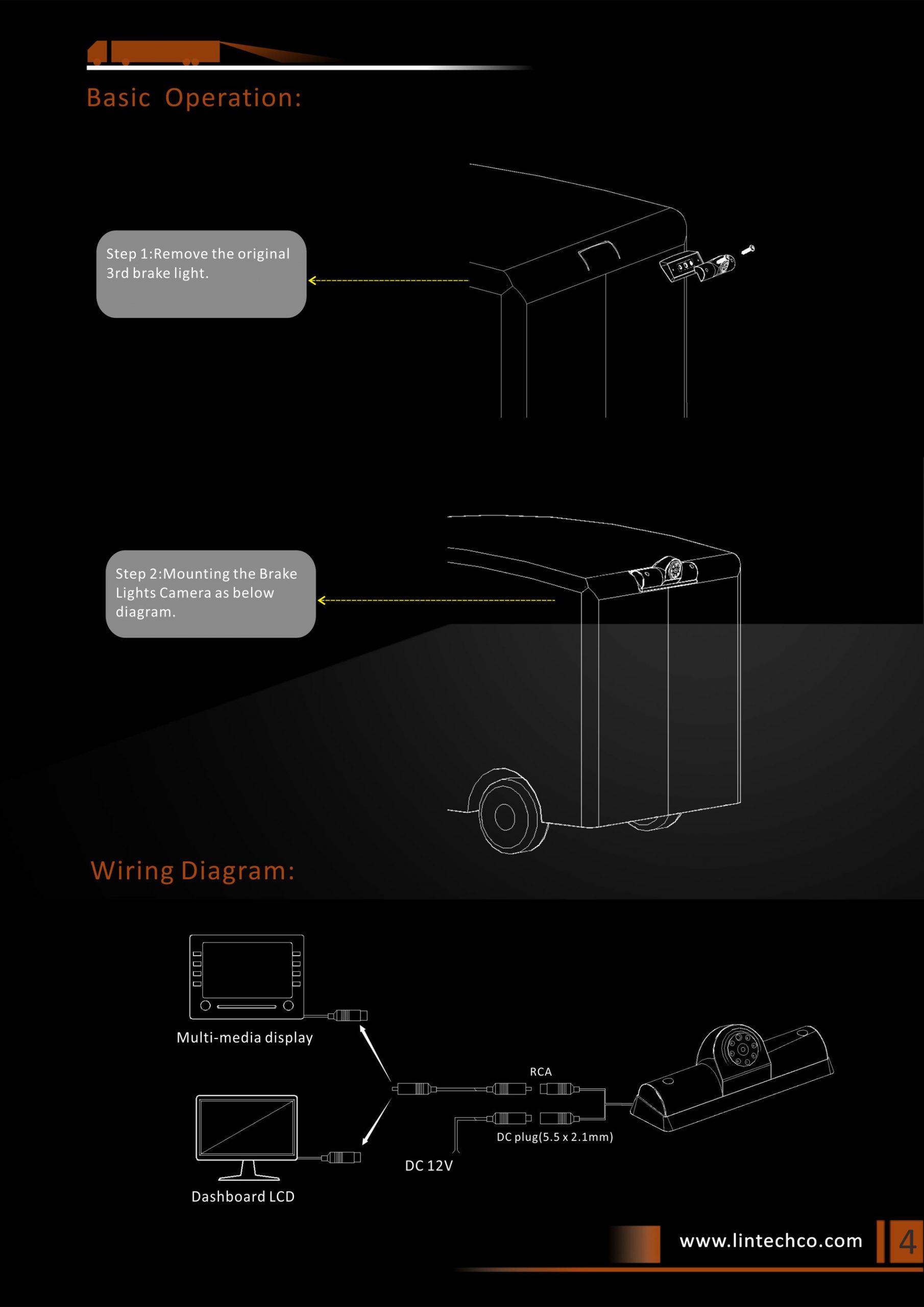 4. Nissan NV Vans Reversing Camera