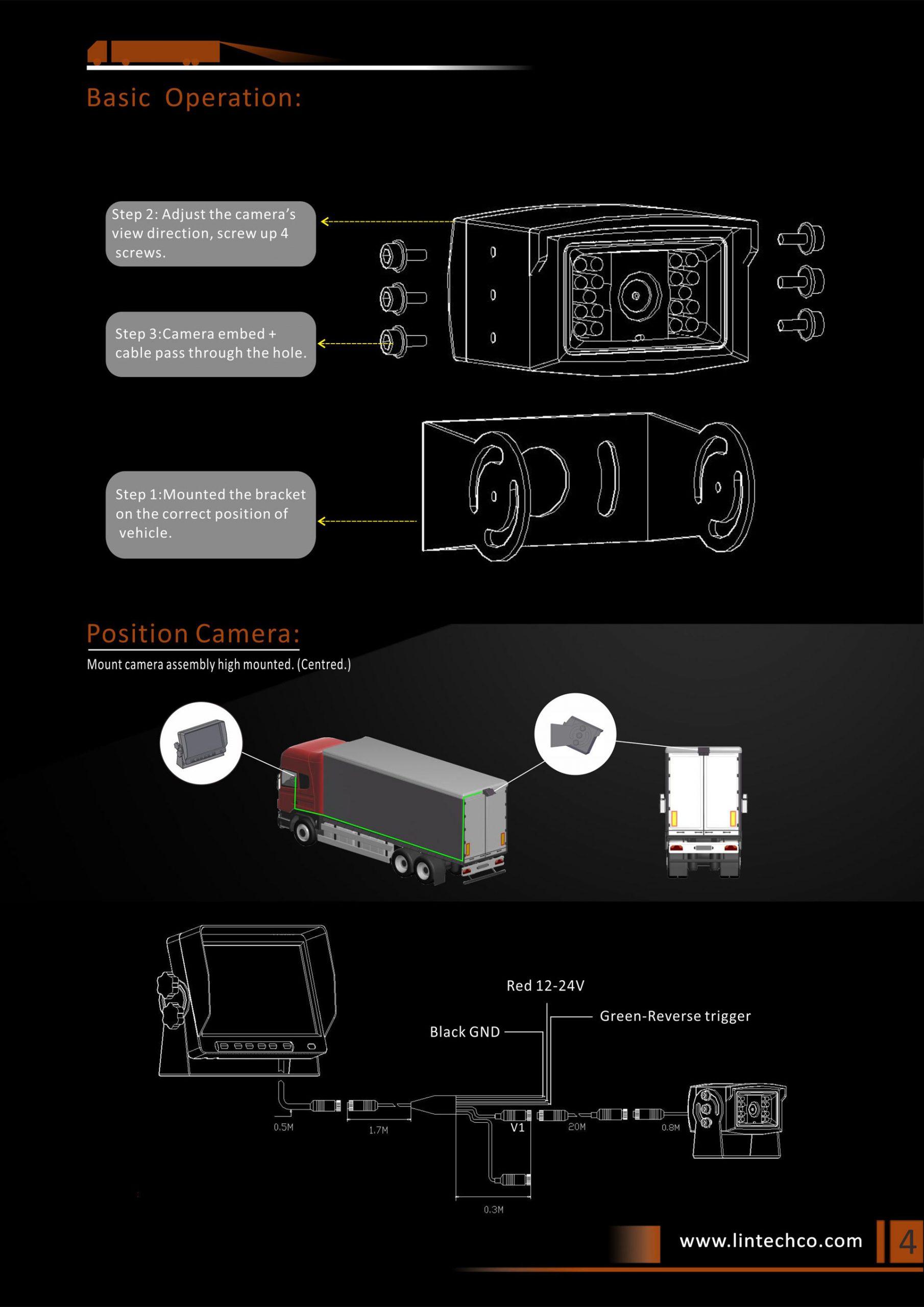 4.18pcs-IR-LED-Night-Vision-Waterproof-Rear-View-Camera