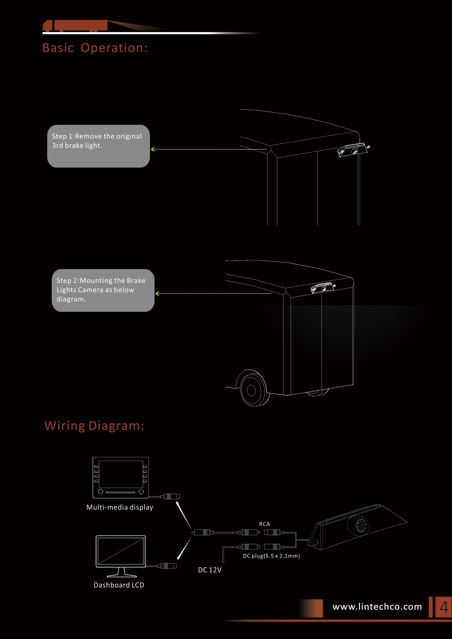 4.Brake Lights Camera For IVECO Daily