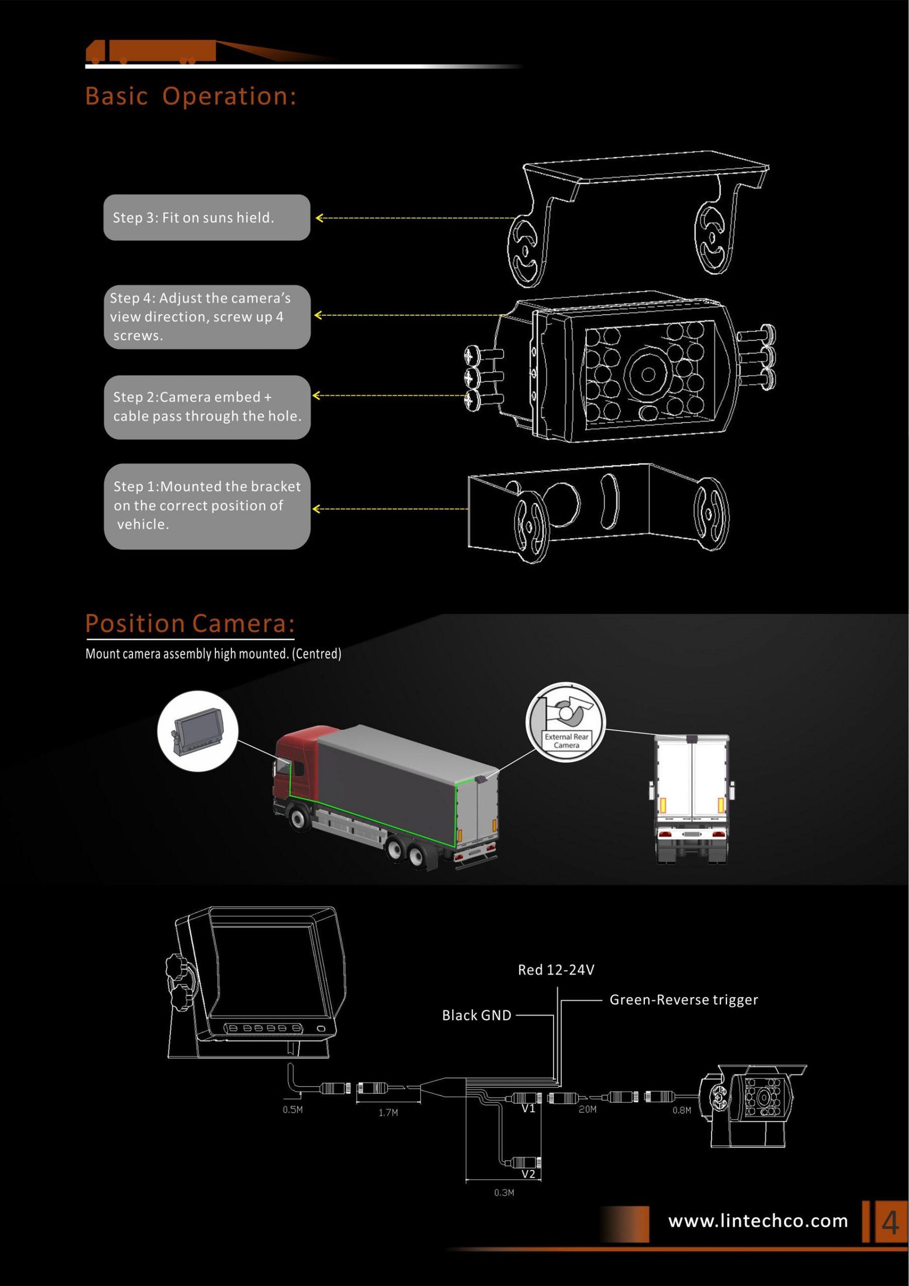 4.Classics Design Night Vision Waterproof Backup Camera