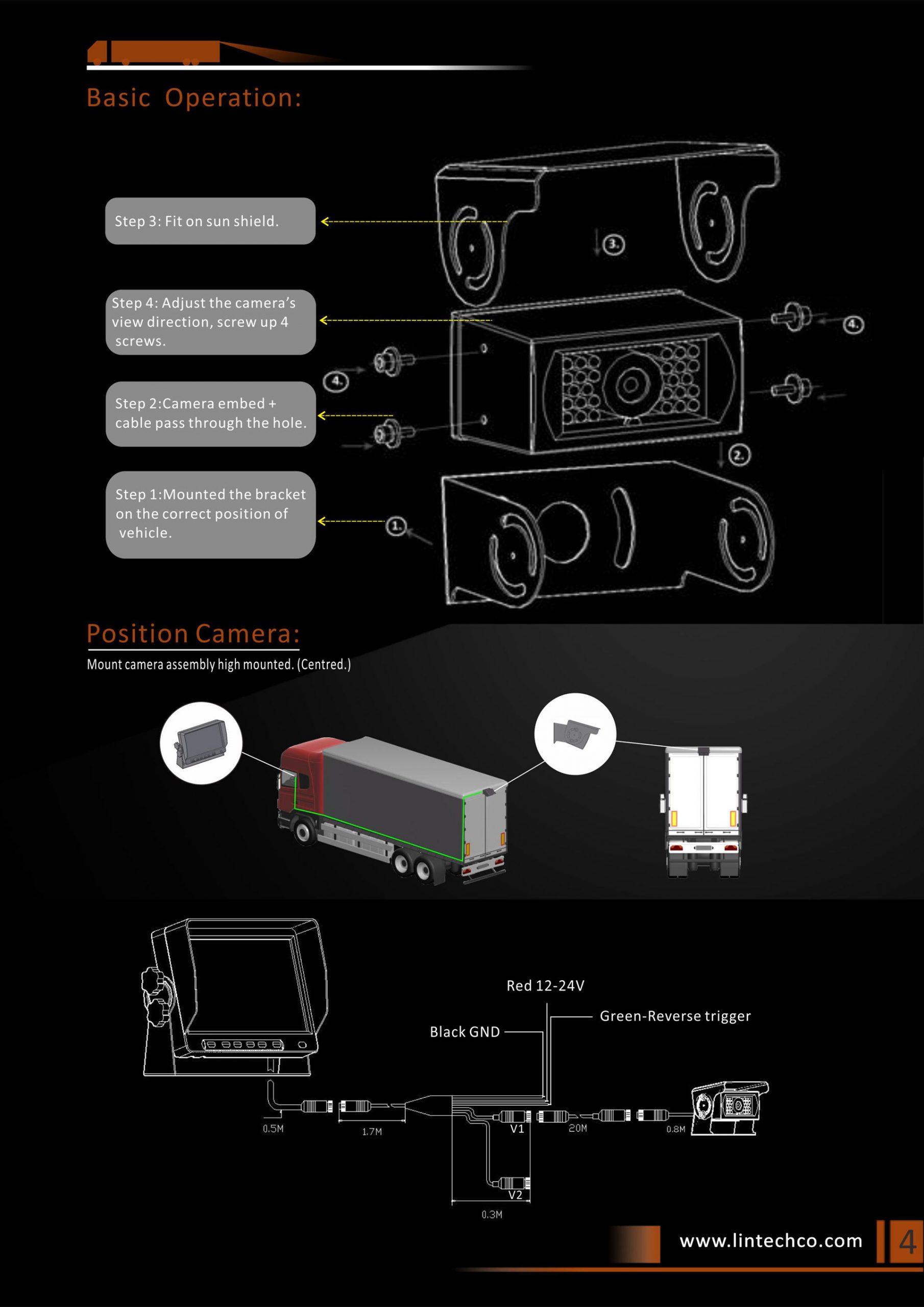4.Heavy Duty 28pcs IR LED Night Vision Enhanced IP69 Waterproof Backup Camera