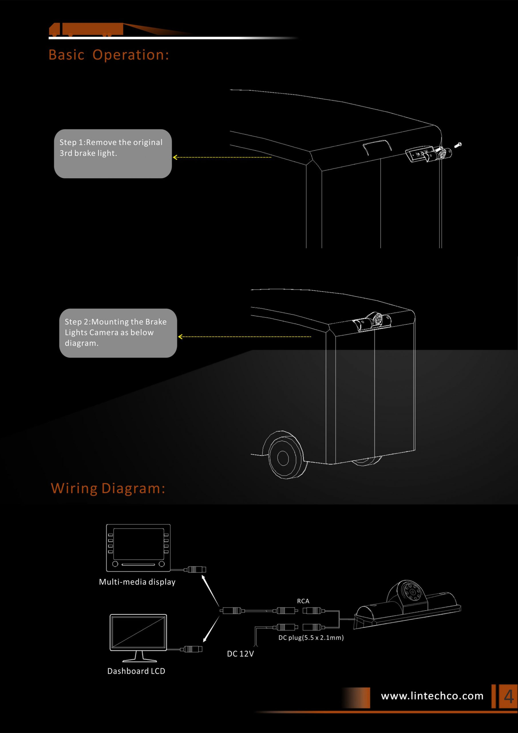 4.Rear View Camera for Dodge ProMaster