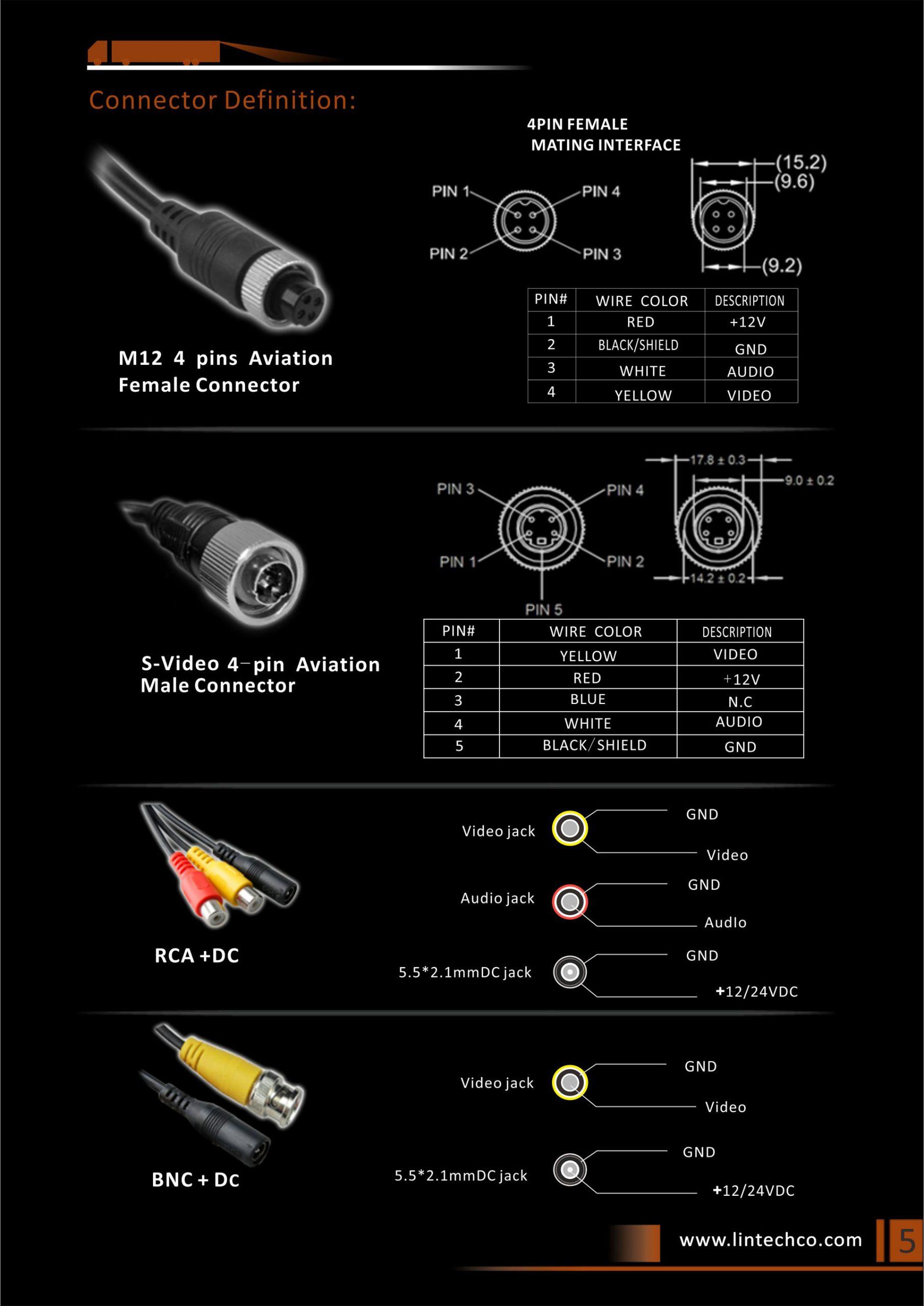 5.Night Vision Brake Light Camera for Universal Vans